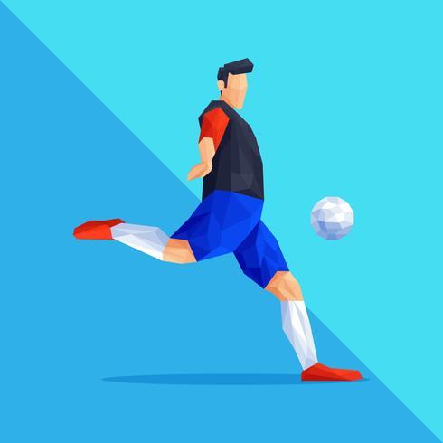 Jugador de fútbol de Lowpoly Shape