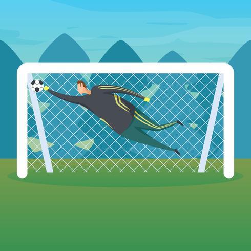Fotboll målvakt fånga boll