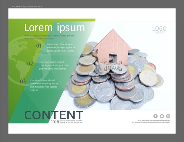 Presentation layout design template for business or finance and investing. vector