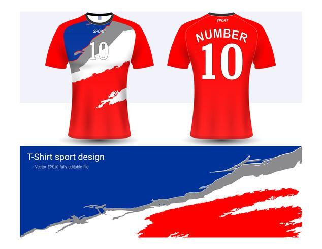 Voetbal shirt en t-shirt sport mockup sjabloon, grafisch ontwerp voor voetbalclub of activewear uniformen.