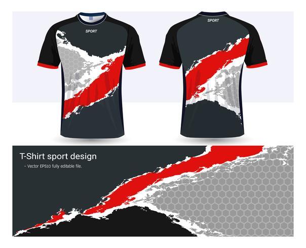 Modèle de maquette sport maillot et t-shirt de football, conception graphique pour les uniformes de club de football ou de vêtements de sport.