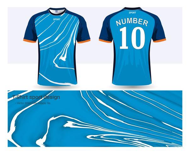 Jérsei de futebol e modelo de maquete de esporte de t-shirt, Design gráfico para uniformes de clube de futebol ou activewear.