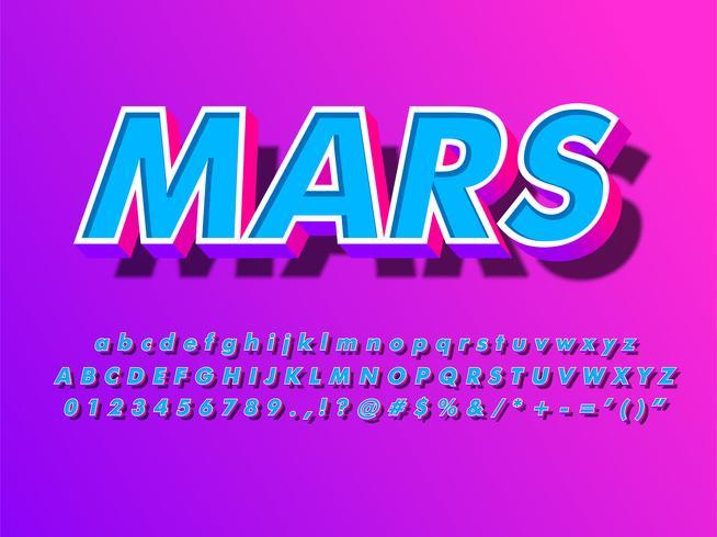 Flytande Futuristisk Pop Isometrisk 3d Font