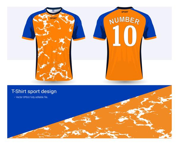 Modello di mockup di sport di jersey da calcio e t-shirt, grafica per le divise del calcio o delle divise activewear.