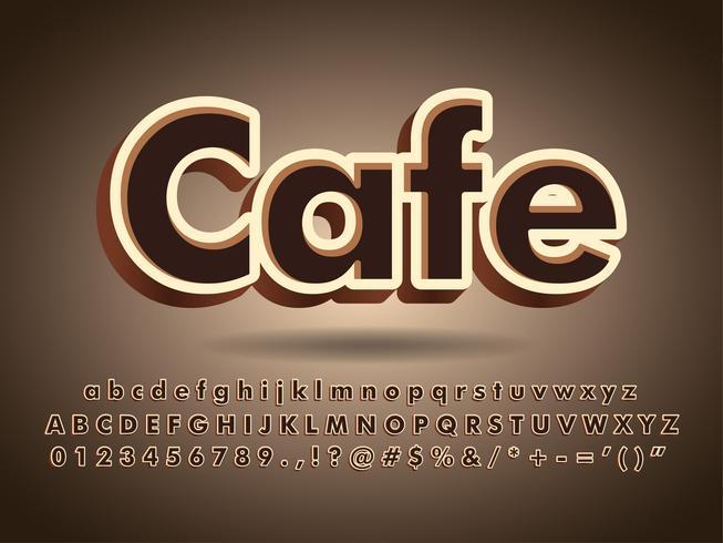 Logo de texte de typographie café et chocolat