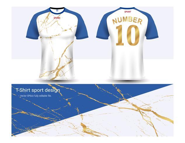 Jérsei de futebol e modelo de maquete de esporte de t-shirt, Design gráfico para uniformes de clube de futebol ou activewear. vetor