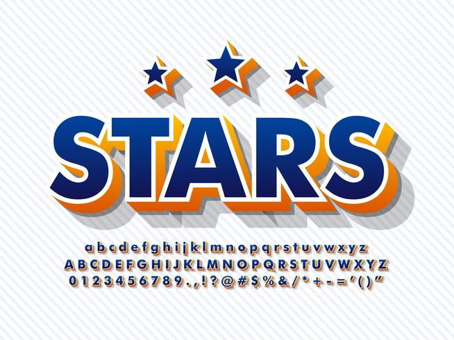 3d Font Baseball Alphabet vector