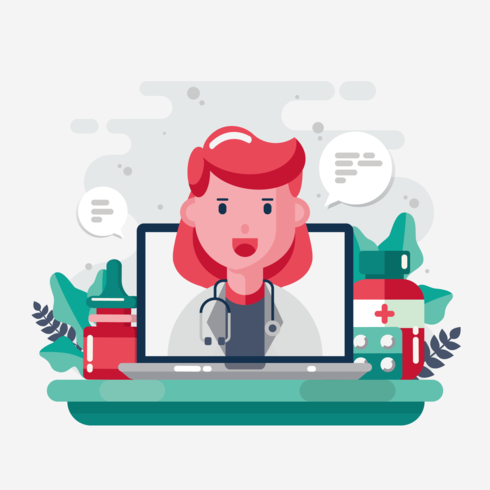 Healthcare Character Vector