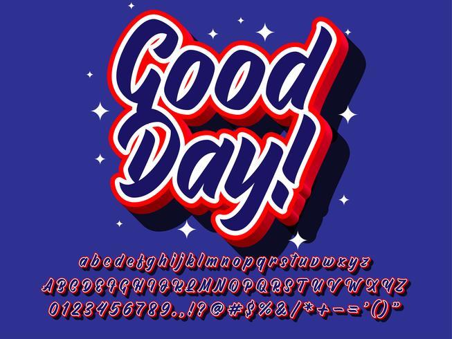 Effet de texte bonne journée 3D Pop