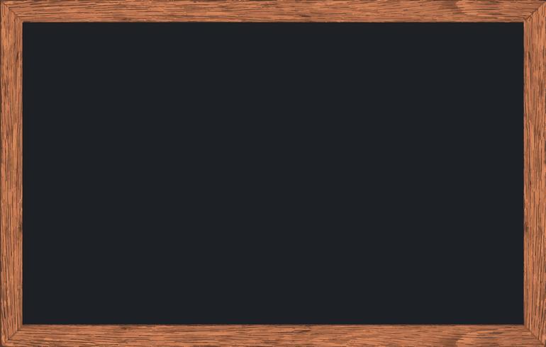 Craie effacée sur tableau noir avec cadre en bois.