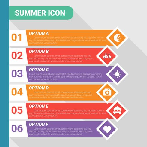 Summer Icon Infographic