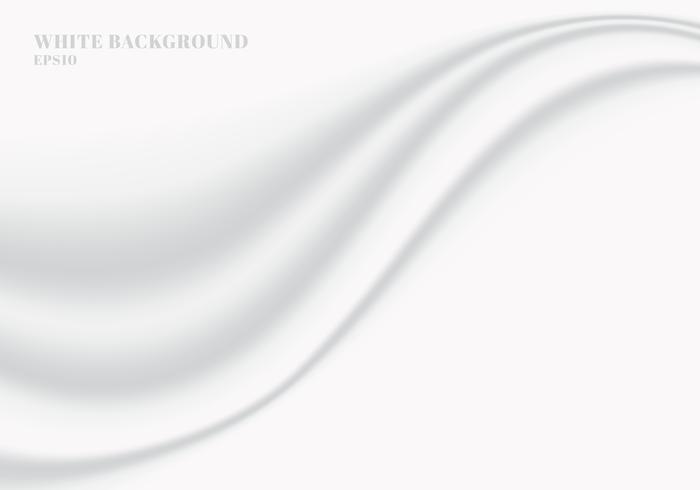 Onda suave lisa del paño blanco abstracto con el fondo y la textura del espacio de la copia vector