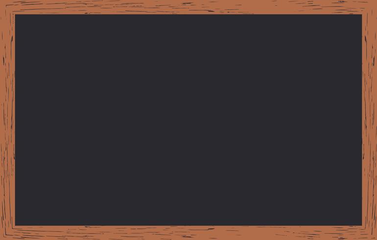 Gesso cancellato sulla lavagna con cornice in legno.