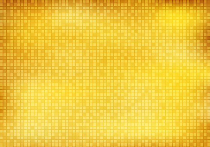 Abstract Shiny Golden Square Mosaic Pattern Background And
