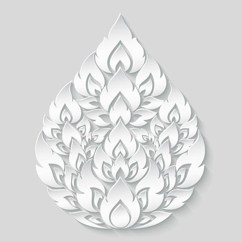 Line thai, Traditional Thai style pattern on gray scale gradient, Vector illustration.