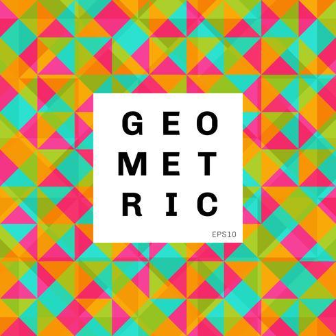 Fundo colorido geométrico abstrato do teste padrão de mosaico. triângulos e cor brilhante quadrado
