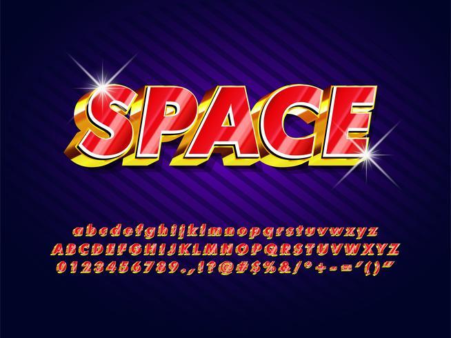 Retro Futuristic Game Logo vector