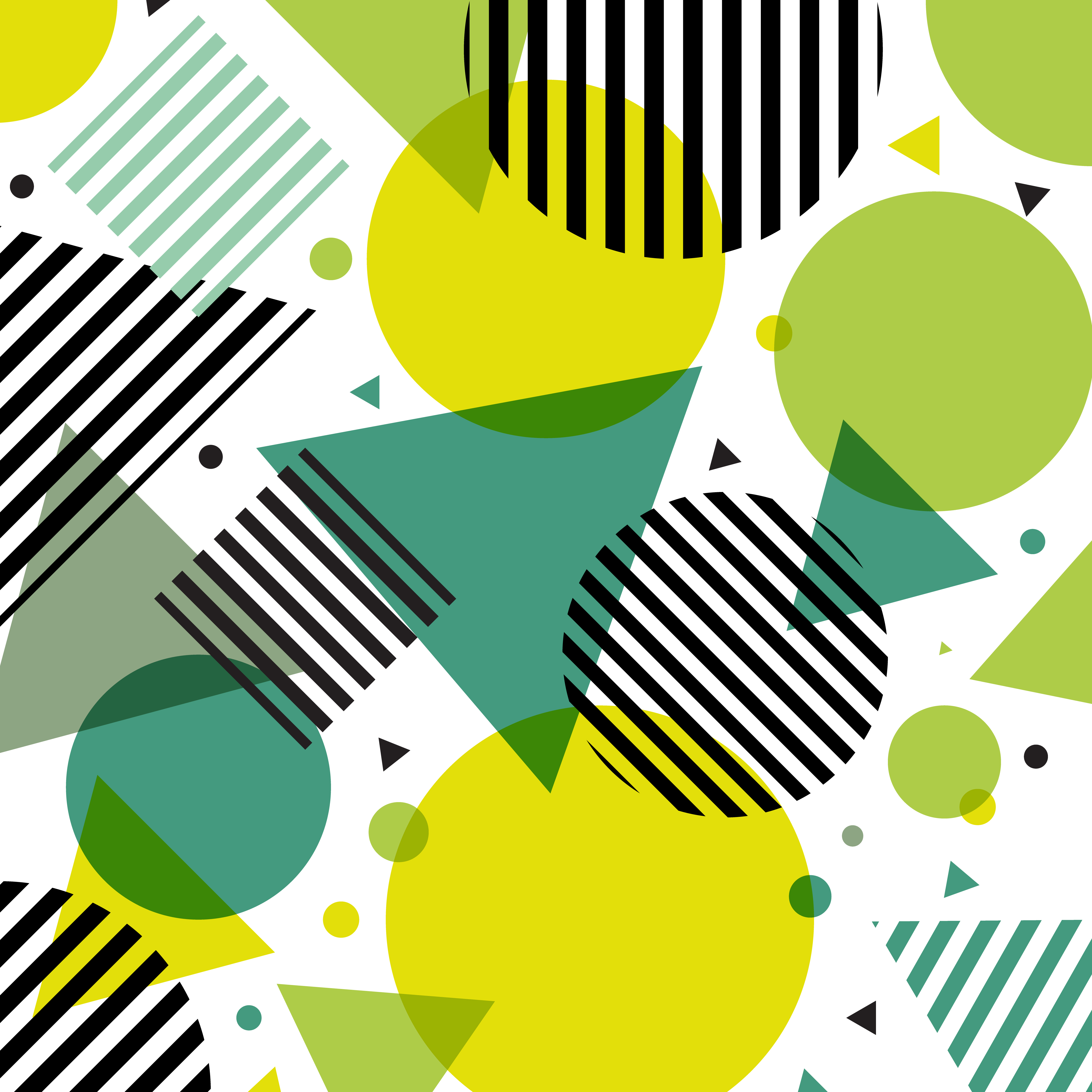 Abstract Green Nature Modern Fashion Circles And Triangles