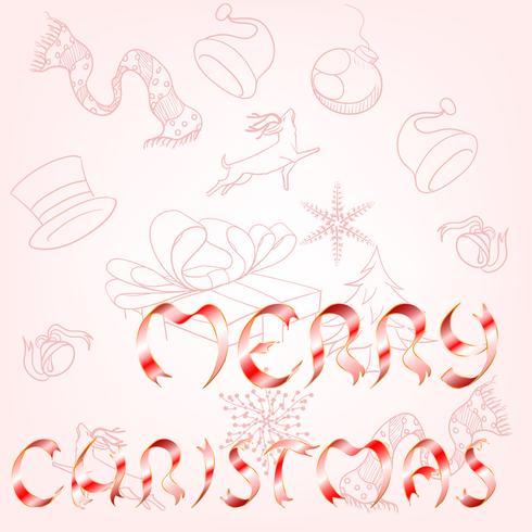 Feliz Navidad vector