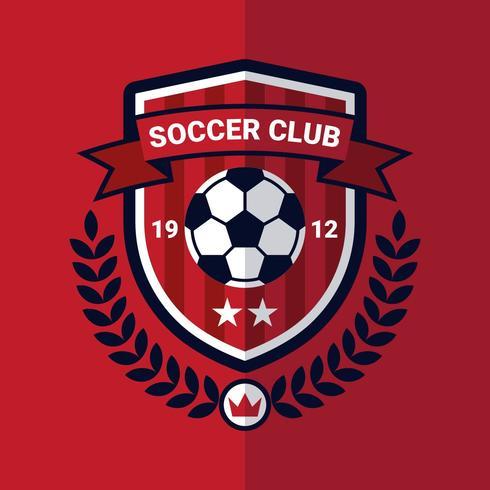 Emblema de futebol vetor