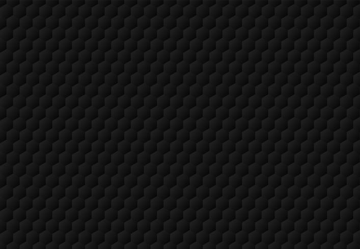 El hexágono negro abstracto grabó en relieve el fondo y la textura oscuros del modelo. Estilo de lujo. vector