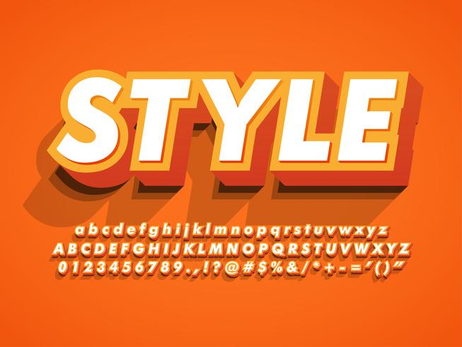 3d Bold And Strong Modern Typeface