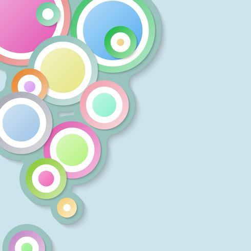 Fondo abstracto del círculo con color en colores pastel. vector