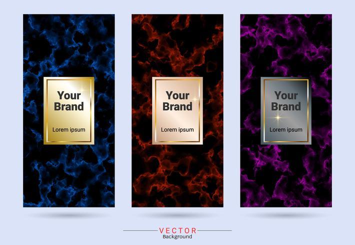 Empaquetado de diseño de producto de etiquetas y pegatinas de plantillas. vector