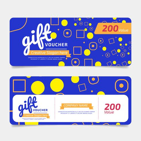 Gift Voucher, Coupon template Golden, Design concept for gift coupon vector
