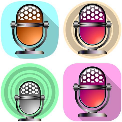 Icône d'application Radio et enregistrement sonore.