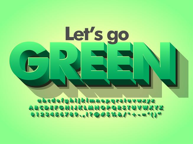 Natur-Grün 3d mutiges grünes Schriftbild