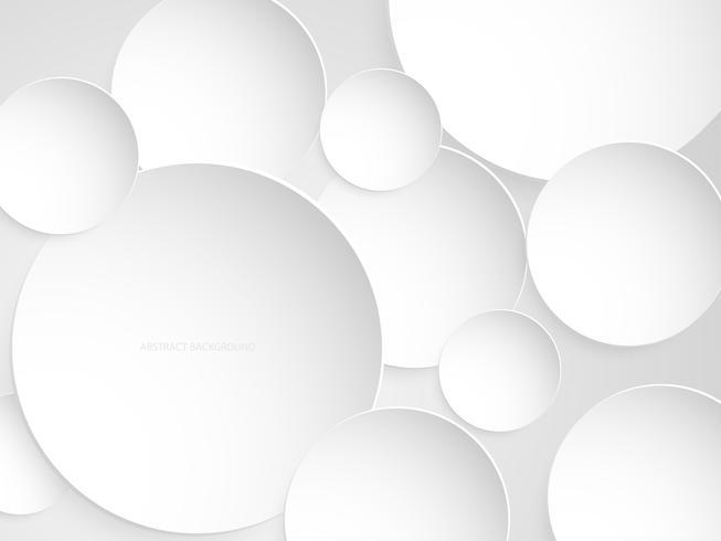 Papier de fond abstrait cercle blanc et gris coupe le style.