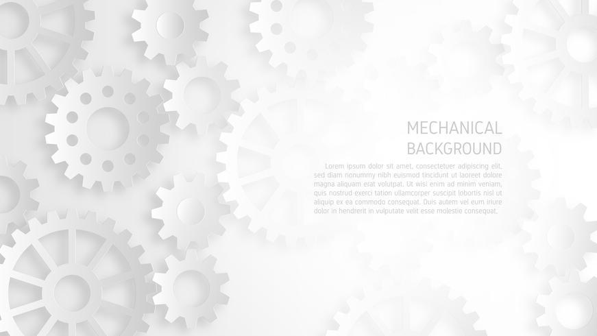 Abstraktes weißes mechanisches Ganghintergrundkonzept.