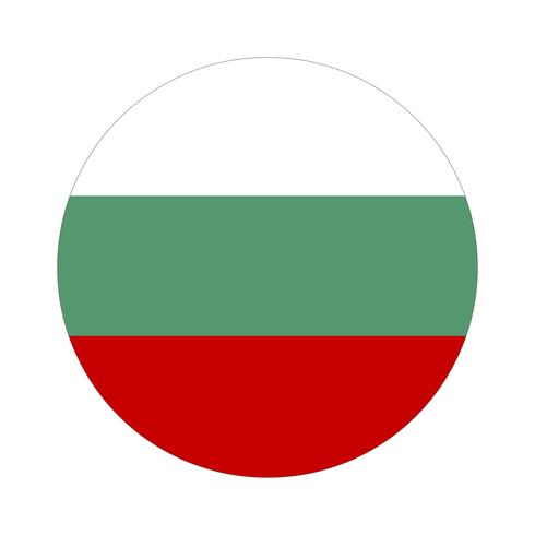 Rodada bandeira da Bulgária.