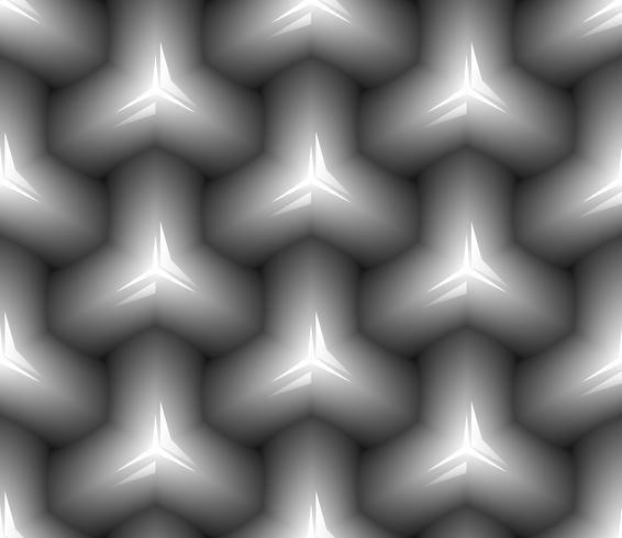 Zwart en wit naadloze patroon.
