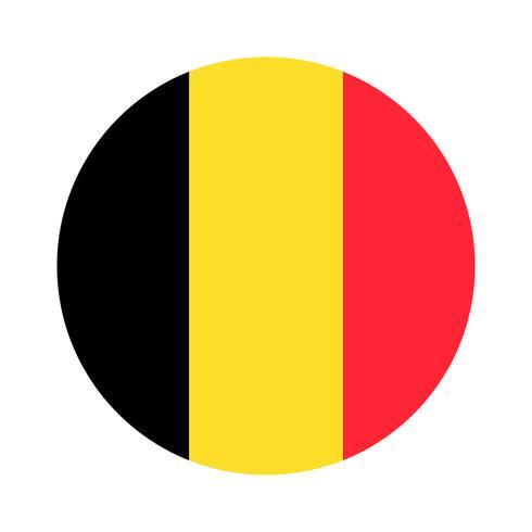 Bandera redonda de bélgica.