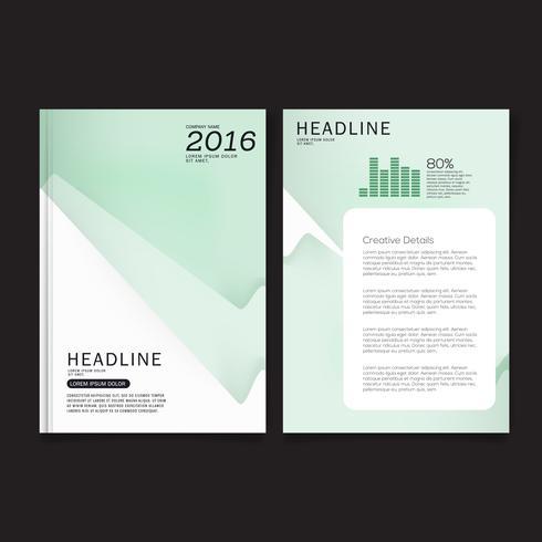 Diseño de folleto, Diseño moderno de portada, Informe anual, Folleto en A4. vector