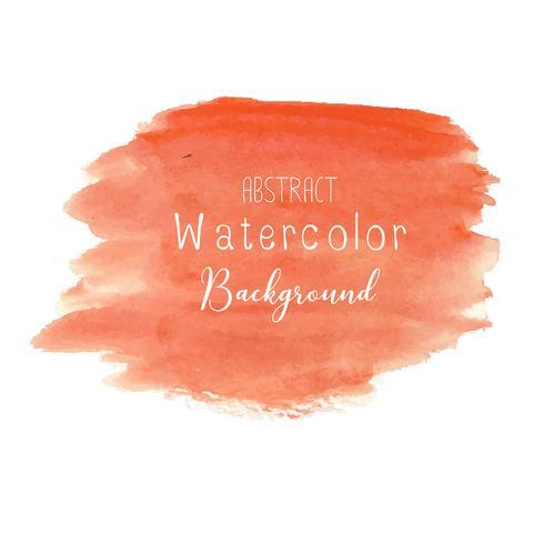 Fond aquarelle abstrait orange. Illustration vectorielle