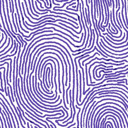Blauwe vingerafdruk naadloze achtergrond. vector