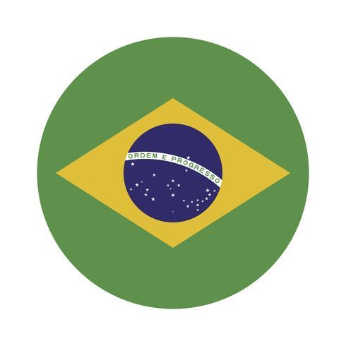 Runde Flagge von Brasilien.