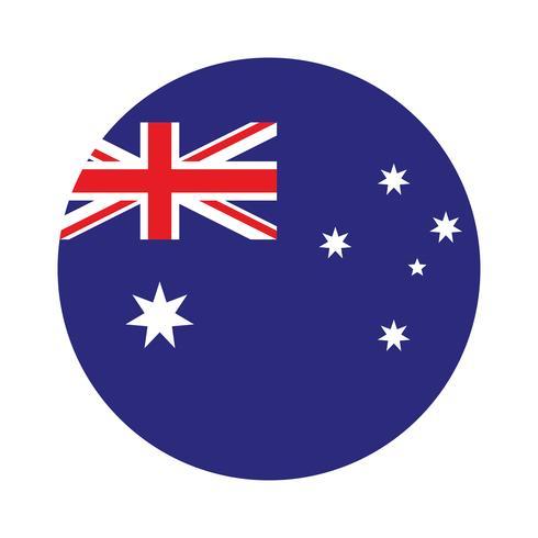 Round flag of Australia.
