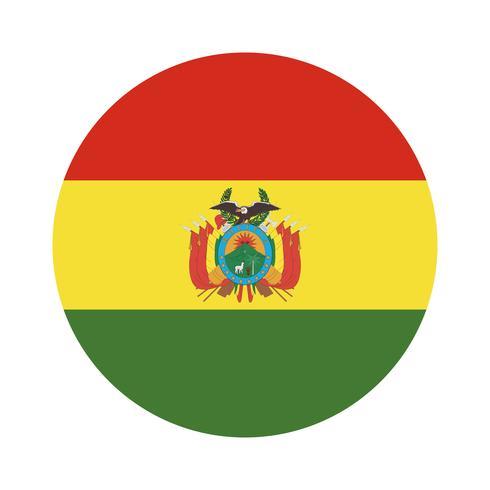Round flag of Bolivia.