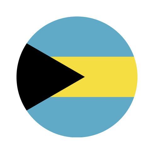 Rodada bandeira das Bahamas.