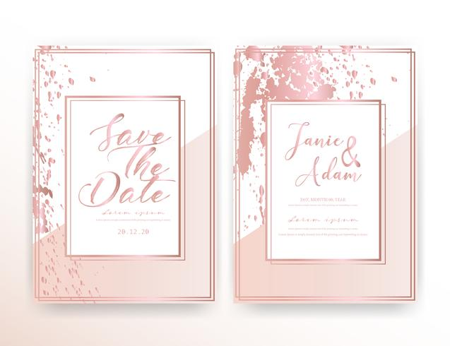 Wedding Invitation Card Save The Date Wedding Card Modern