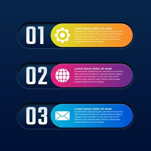Zakelijke 3d knop Infographic elementen