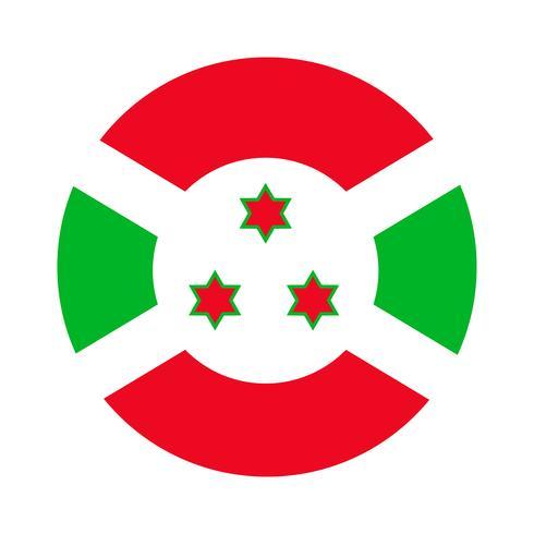 Ronde vlag van Burundi.