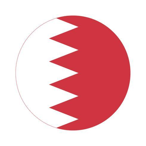 Drapeau rond de Bahreïn.