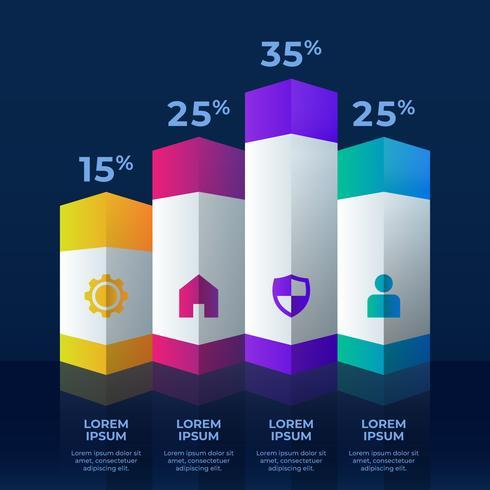 3d Infographics Element Konceptuell Design Mall