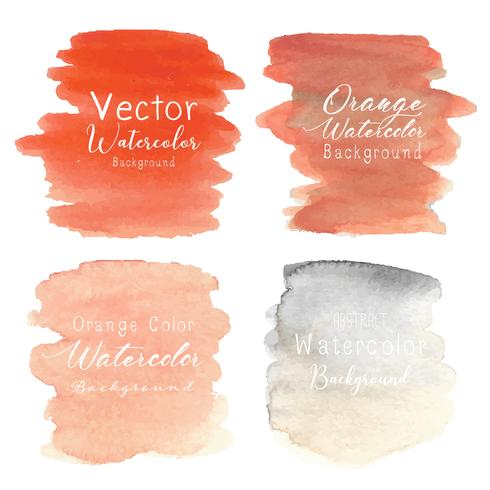 Fundo abstrato aquarela laranja. Ilustração vetorial vetor