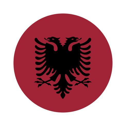 Albaniens runda flagga.